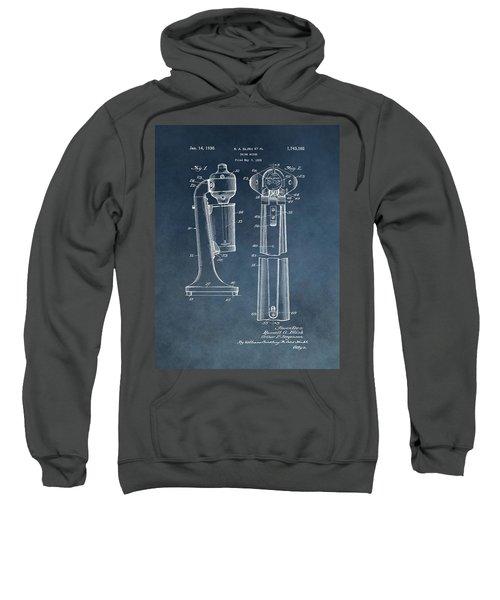 1930 Drink Mixer Patent Blue Sweatshirt by Dan Sproul