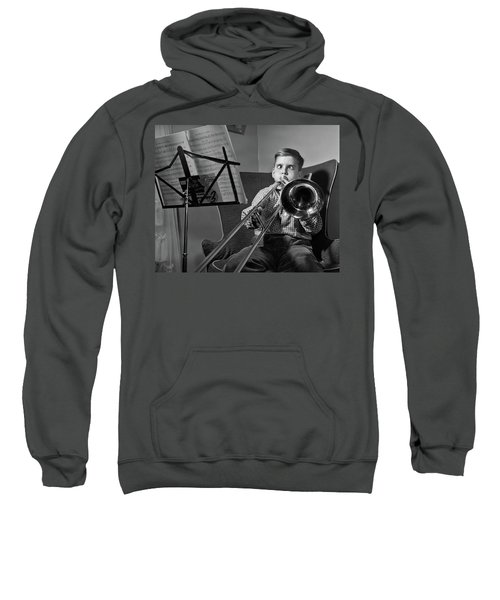 1950s Funny Cross-eyed Boy Playing Sweatshirt