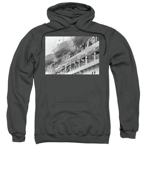 1970s Crowd Gathered On 2 Levels Sweatshirt
