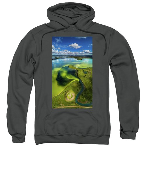 Aerial View Of Skutustadagigar Sweatshirt