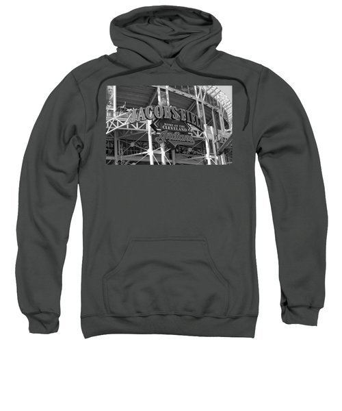 Sweatshirt featuring the photograph Jacobs Field - Cleveland Indians by Frank Romeo