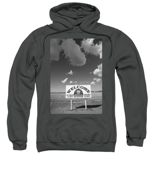 Route 66 - Midpoint Sign Sweatshirt