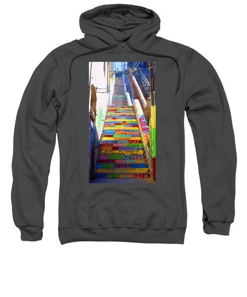 Stairway To Heaven Valparaiso  Chile Sweatshirt