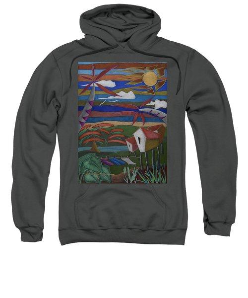 Sweatshirt featuring the painting Tiempos Y Remembranzas by Oscar Ortiz