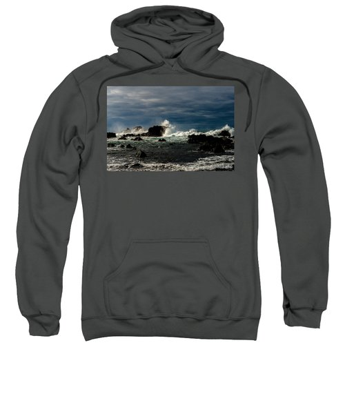 Sweatshirt featuring the photograph Stormy Seas And Skies  by Joseph Amaral