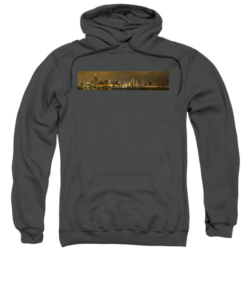 Chicago Skyline At Night Sweatshirt