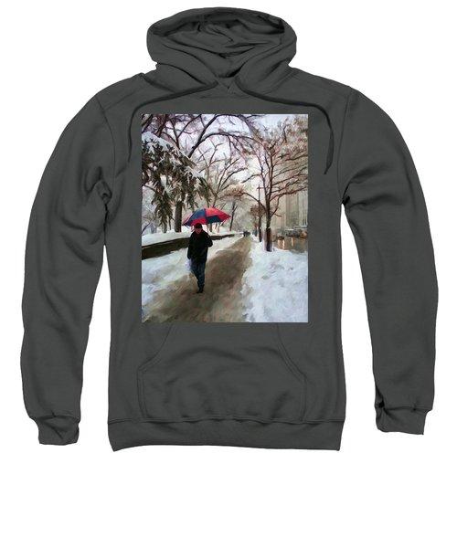 Snowfall In Central Park Sweatshirt