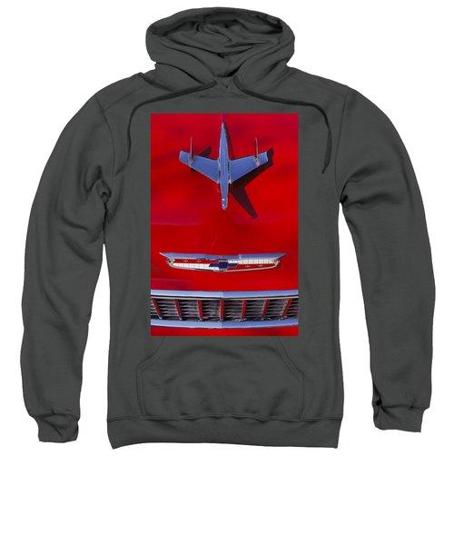 1955 Chevrolet Belair Nomad Hood Ornament Sweatshirt