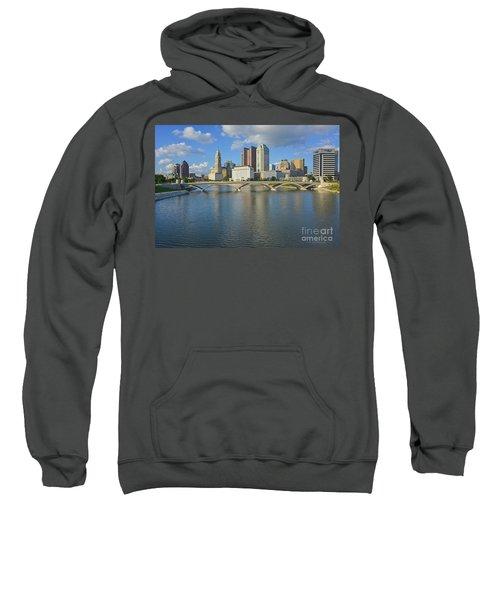 Fx1l-802 Columbus Ohio Skyline Photo Sweatshirt