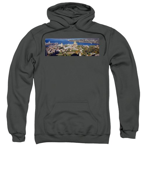 High Angle View Of Buildings In A City Sweatshirt