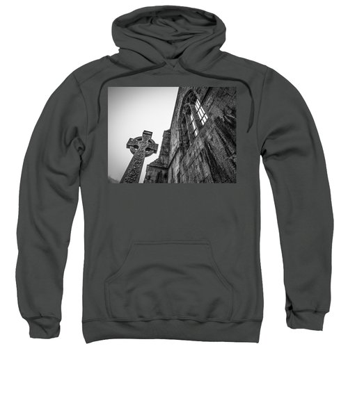 Sweatshirt featuring the photograph 700 Years Of Irish History At Quin Abbey by James Truett