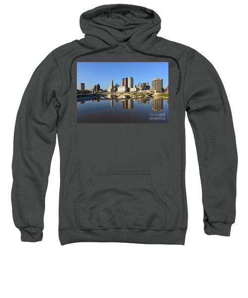 Fx1l-1058 Columbus Ohio Skyline Photo Sweatshirt