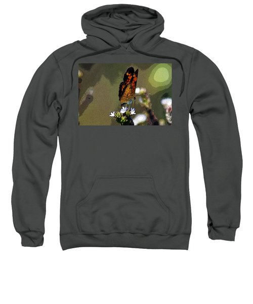 Sweatshirt featuring the photograph A Butterflies View  by Kim Pate