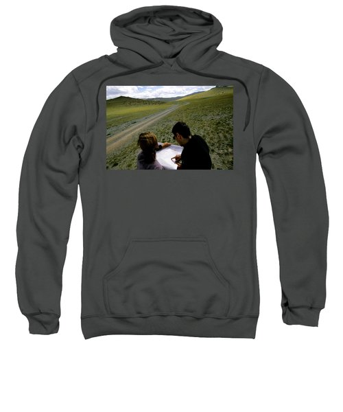 A Couple Hiking Across The Atlai Sweatshirt