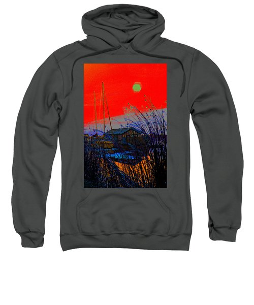A Digital Marina Sunset Sweatshirt