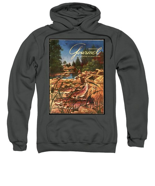 A Fishing Scene Sweatshirt