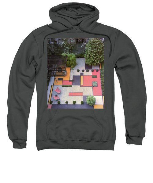 A Garden With Colourful Landscaping In Dr Sweatshirt
