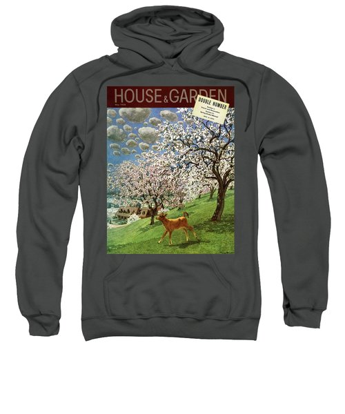 A House And Garden Cover Of A Calf Sweatshirt