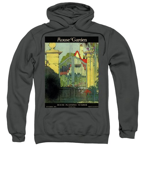A House And Garden Cover Of A Gate Sweatshirt