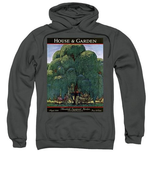 A House And Garden Cover Of People Dining Sweatshirt