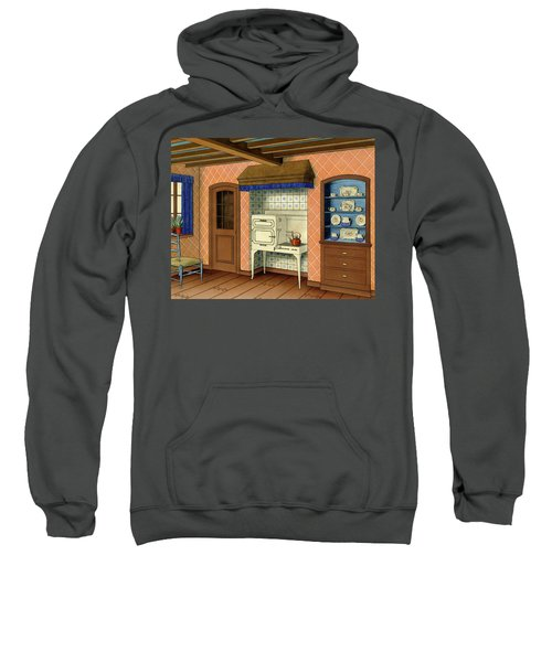 A Kitchen With An Old Fashioned Oven And Stovetop Sweatshirt