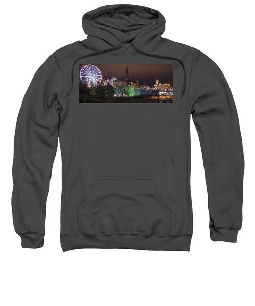 Sweatshirt featuring the photograph A Princes Street Gardens Christmas by Ross G Strachan
