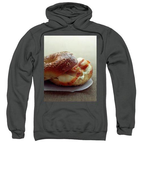 A Sesame Bagel Sweatshirt