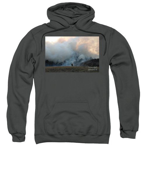 A Solitary Firefighter On The White Draw Fire Sweatshirt