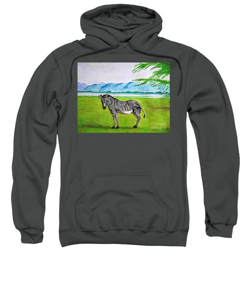 Sweatshirt featuring the painting A Striped Chap by Denise Railey