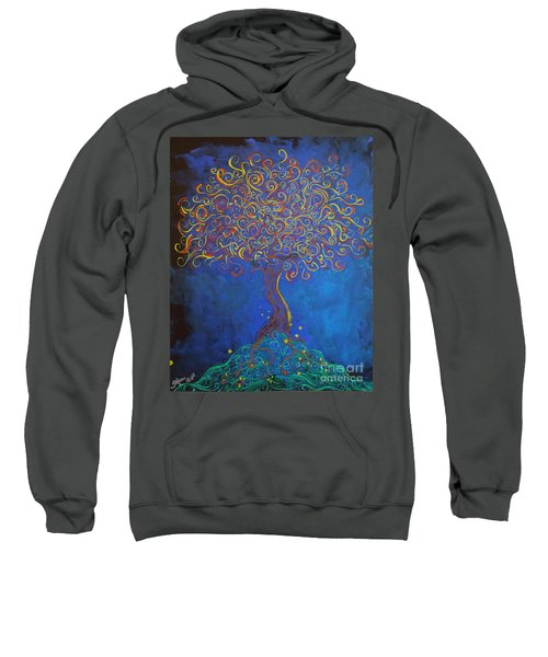 A Tree Of Orbs Glows Sweatshirt