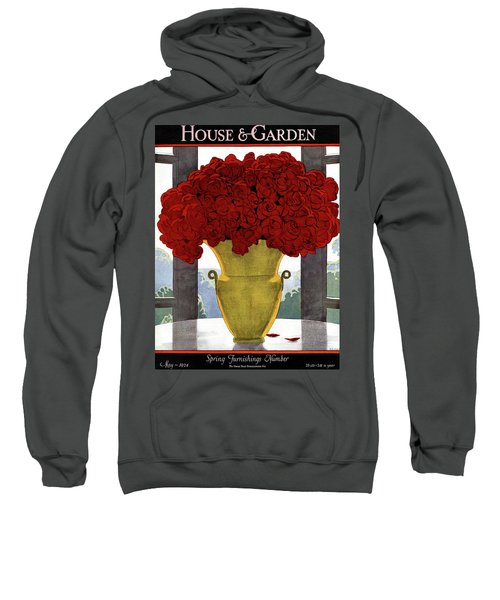A Vase With Red Roses Sweatshirt