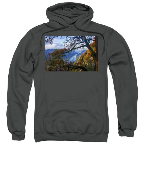A Window To The Elbe In The Saxon Switzerland Sweatshirt