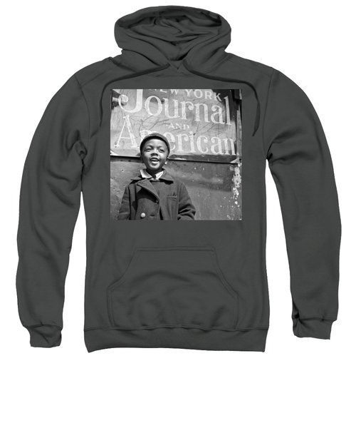 A Young Harlem Newsboy Sweatshirt by Underwood Archives