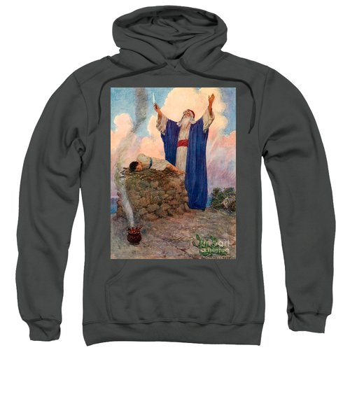Abraham And Isaac On Mount Moriah Sweatshirt