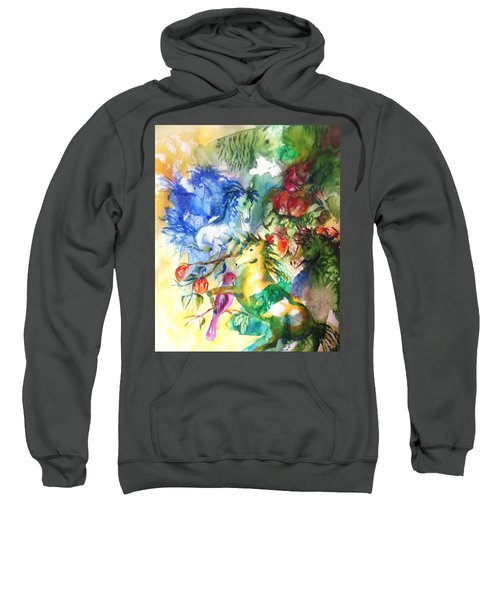 Abstract Horses Sweatshirt