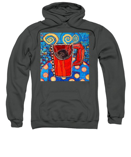 Abstract Hot Coffee In Red Mug Sweatshirt