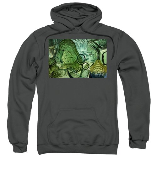 Abstract In Green Sweatshirt