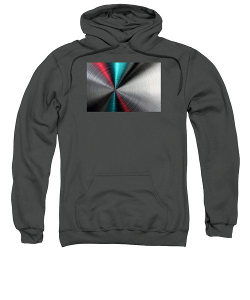Abstract Metallic Texture With Blue And Red Ray Pattern. Sweatshirt
