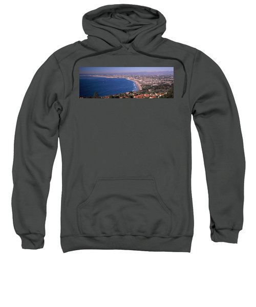 Aerial View Of A City At Coast, Santa Sweatshirt by Panoramic Images