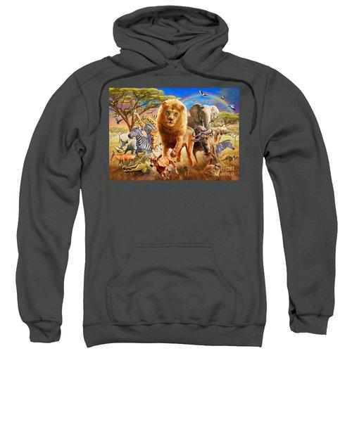 African Stampede Sweatshirt by Adrian Chesterman