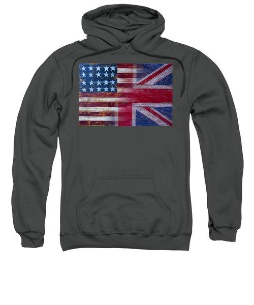 American British Flag 2 Sweatshirt