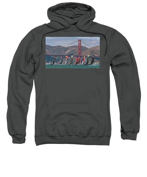 Americas Cup Catamarans At The Golden Gate Sweatshirt