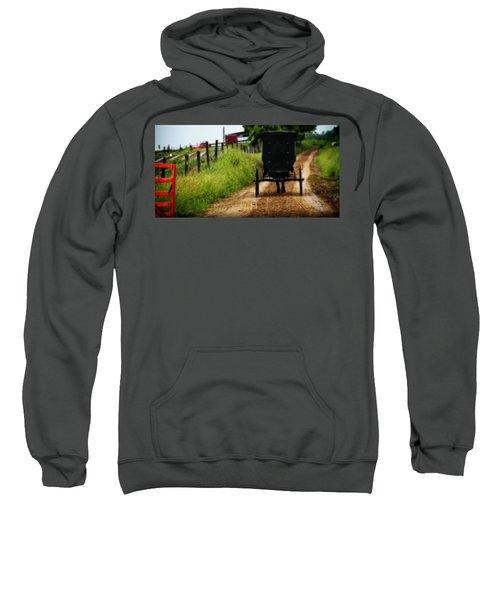 Amish Buggy On Dirt Road Sweatshirt
