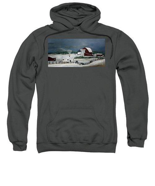 Amish Farm - Winter - Michigan Sweatshirt