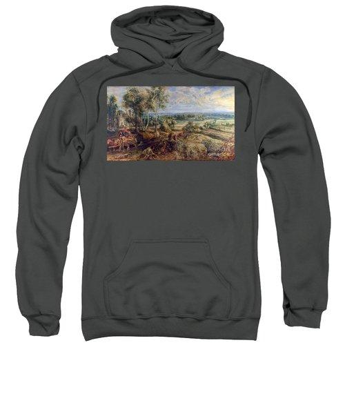 An Autumn Landscape With A View Of Het Steen Sweatshirt