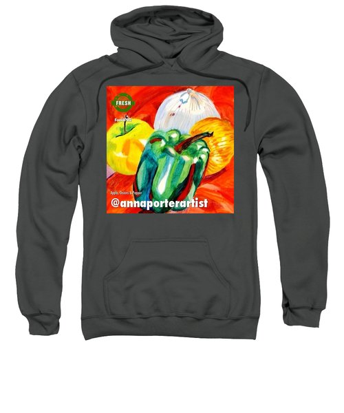 Apple, Onions And Pepper A Digital Edit Sweatshirt