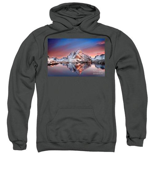 Arctic Dawn Over Reine Village Sweatshirt