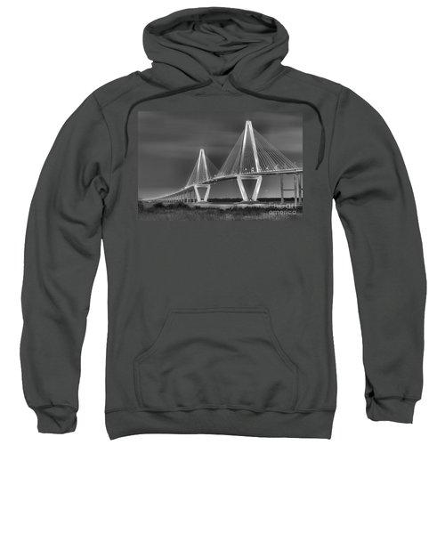 Arthur Ravenel Jr. Bridge In Black And White Sweatshirt