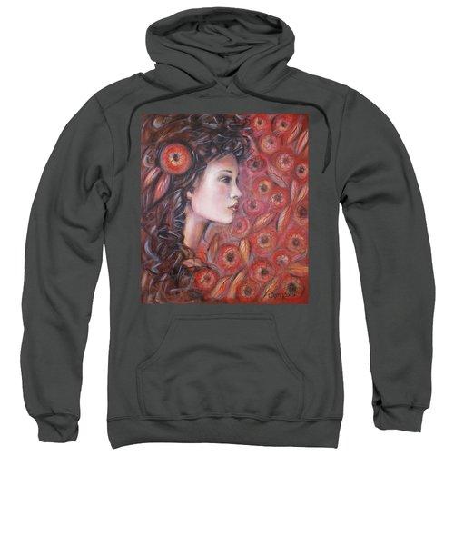 Asian Dream In Red Flowers 010809 Sweatshirt