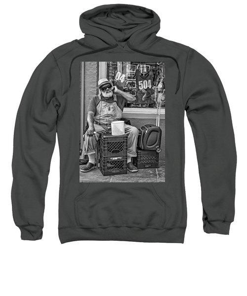 At His Office - Grandpa Elliott Small Bw Sweatshirt